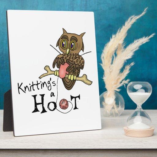 Knitting Photo Plaque