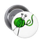 Knitting Pinback Buttons