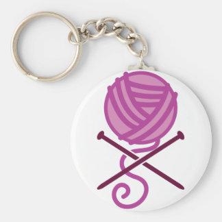 knitting pirate purple keychain