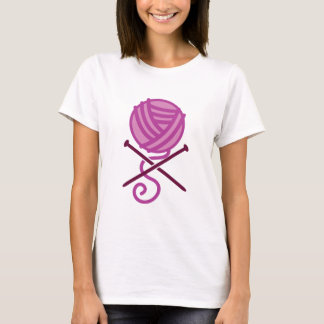 knitting pirate purple T-Shirt