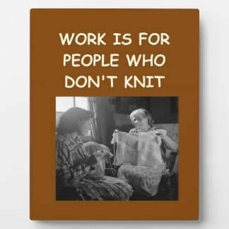 knitting photo plaques