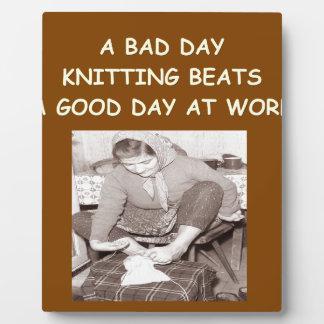 knitting plaque