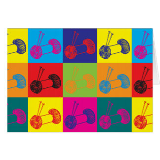 Knitting Pop Art Card