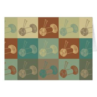 Knitting Pop Art Greeting Cards