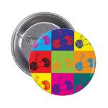 Knitting Pop Art Pinback Buttons