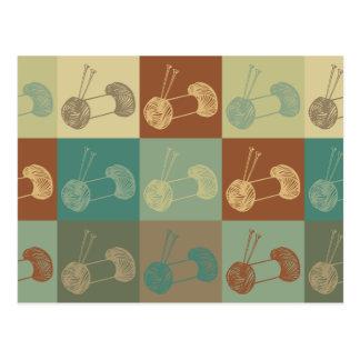 Knitting Pop Art Post Card