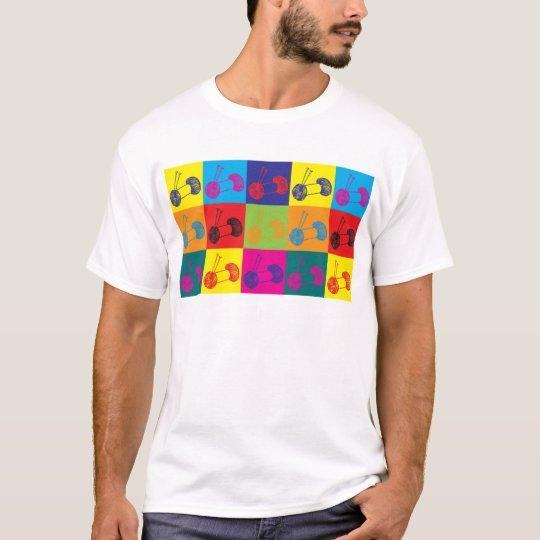 Knitting Pop Art T-Shirt