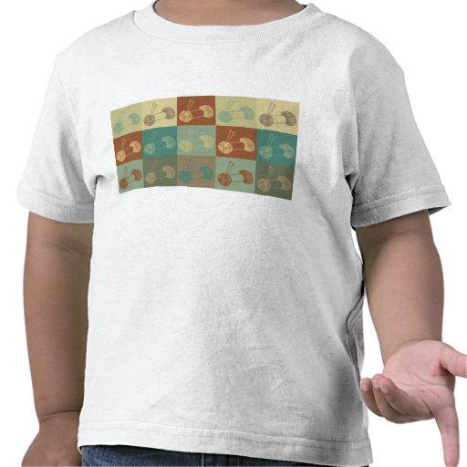 Knitting Pop Art Tee Shirts
