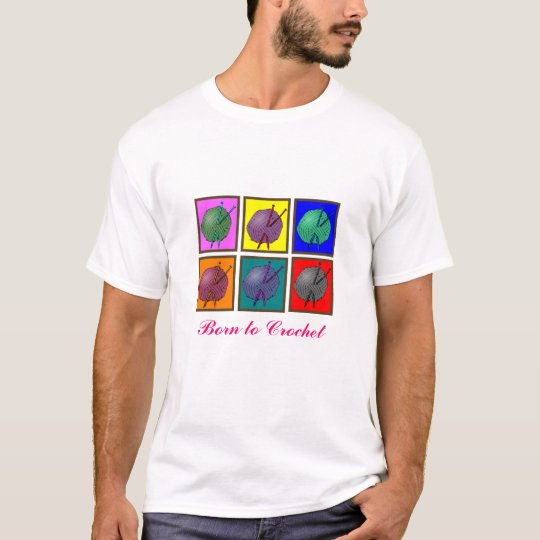 Knitting Popart Gifts T-Shirt