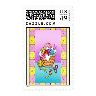 knitting postage stamps