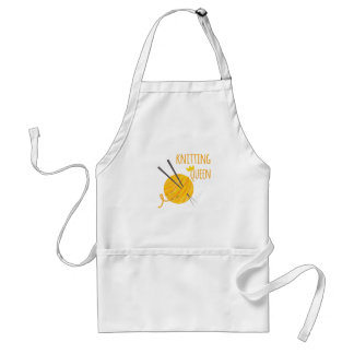 Knitting Queen Adult Apron