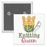 Knitting Queen Button
