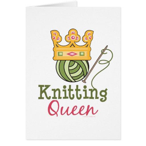 Knitting Birthday Card : Knitting queen greeting card zazzle