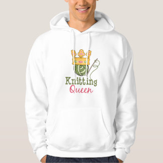 Knitting Queen Hooded Sweatshirt