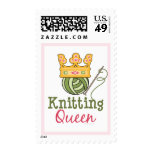 Knitting Queen Postage Stamps