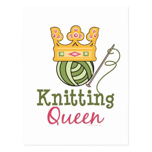 Knitting Queen West : Knitting queen postcard zazzle
