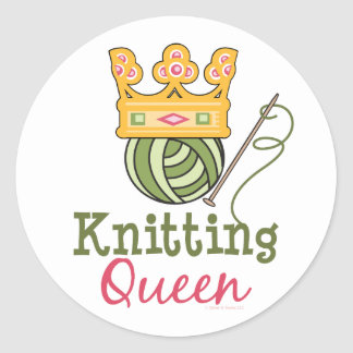 Knitting Queen Stickers