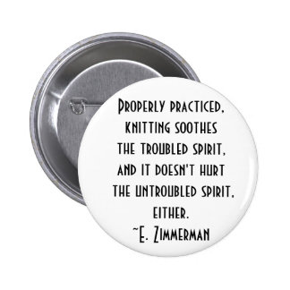 knitting quote 2 inch round button