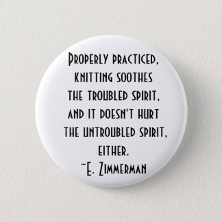 knitting quote pinback button