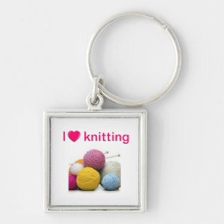 Knitting quotes keychain