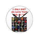 knitting round clocks