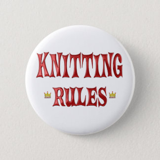 Knitting Rules Button