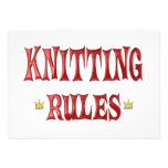 Knitting Rules Invitations