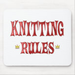 Knitting Rules Mouse Pad