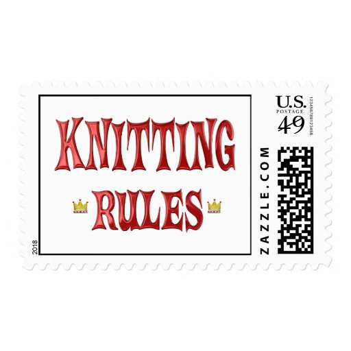 Knitting Rules Postage Stamp