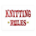 Knitting Rules Postcard