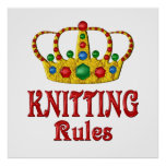 KNITTING RULES POSTER