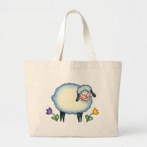 KNITTING SHEEP BAG by SHARON SHARPE