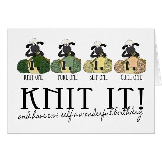 Knitting Birthday Card : Knitting sheep birthday greeting card zazzle