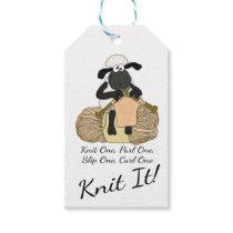 Knitting Sheep Custom Gift Tags