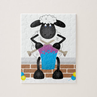 Knitting Sheep For Ewe Jigsaw Puzzle