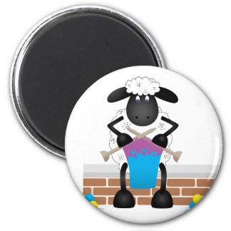 Knitting Sheep For Ewe Magnet