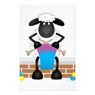 Knitting Sheep For Ewe Stationery