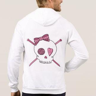 Knitting Skull & Accessories (Pink) Hoodie