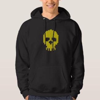 Knitting skull hoodie