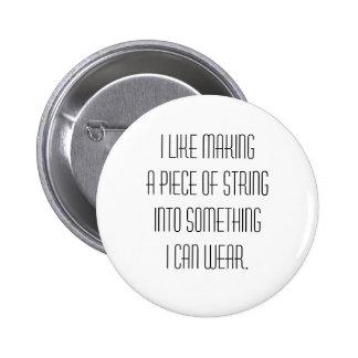 knitting slogan 2 inch round button