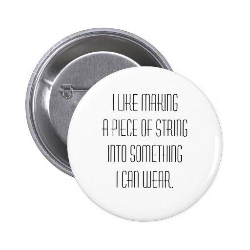 knitting slogan button