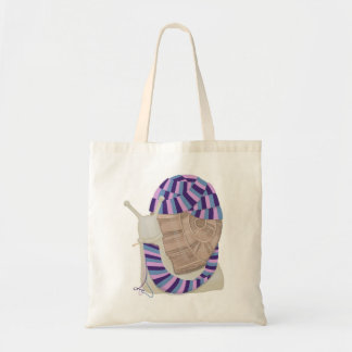 Knitting Snail Tote Bag