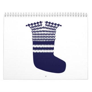 Knitting sock calendar