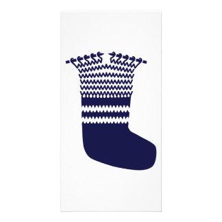 Knitting sock photo card