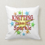 Knitting Sparkles Pillow