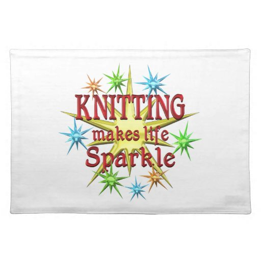Knitting Sparkles Placemats
