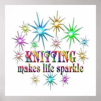 Knitting Sparkles Poster