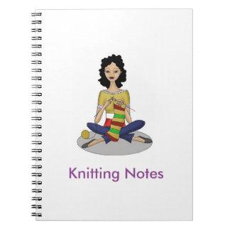 Knitting Spiral Notebook