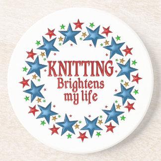 Knitting Stars Sandstone Coaster