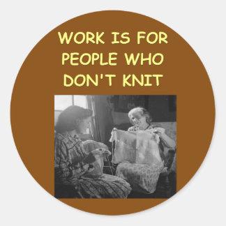knitting round sticker